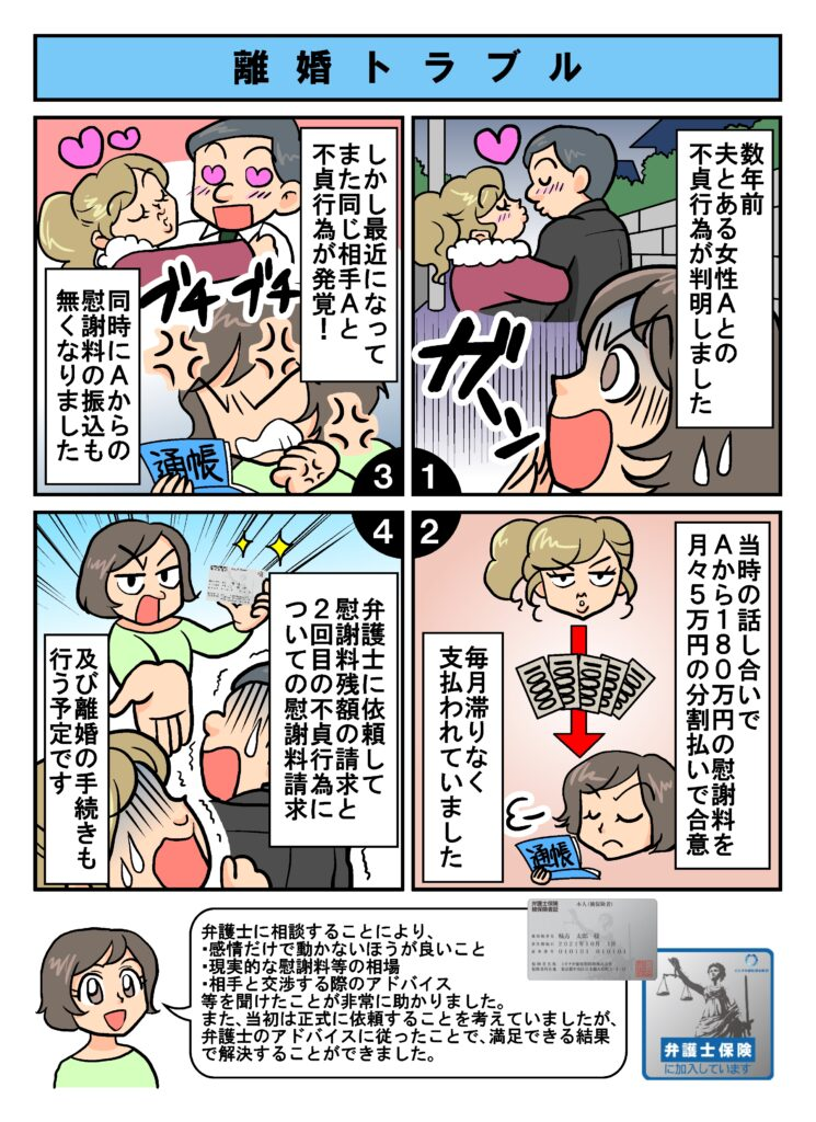 【漫画】弁護士保険ミカタ加入者の口コミ・評判【支払い事例】